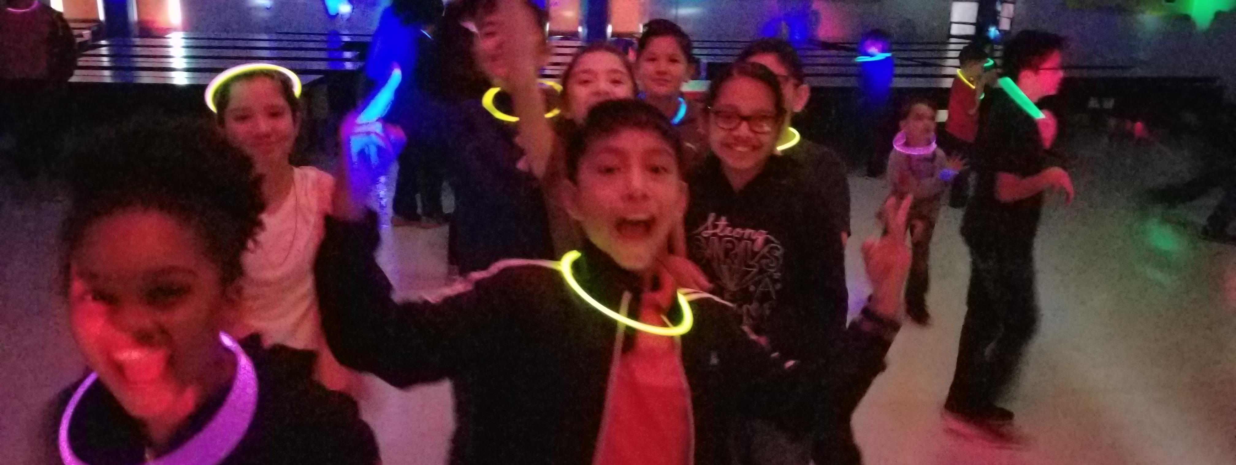 enjoying a GLOW party!